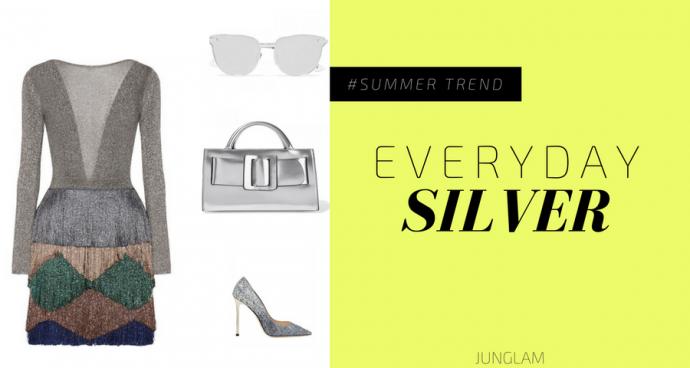 come abbinare i colori: l'argento - junglam