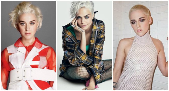 tendenza capelli cortissimi look androgino katy perry cara delevingne kristen stewart