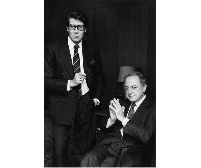 Yves Saint Laurent e Pierre Bergè