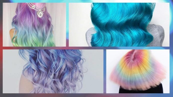 Capelli colorati Halloween 2017