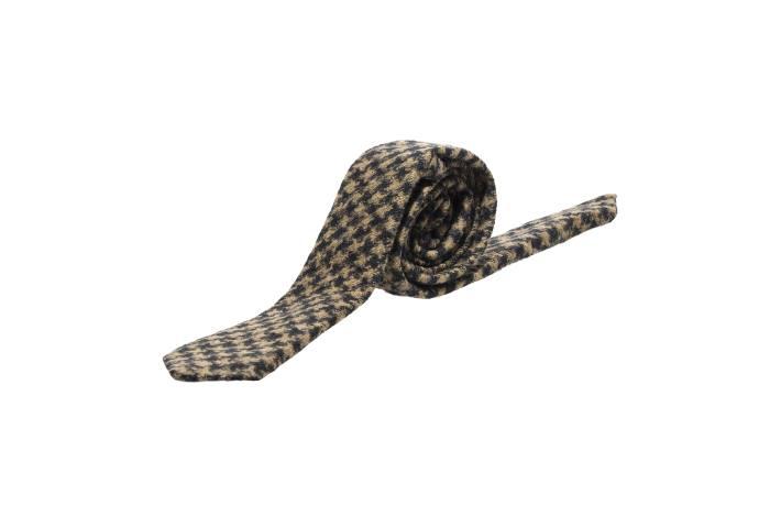 Manuel Ritz Cravatta in lana pied de poule