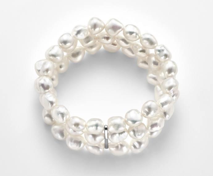 Bracciale Mikiko in argento e perle