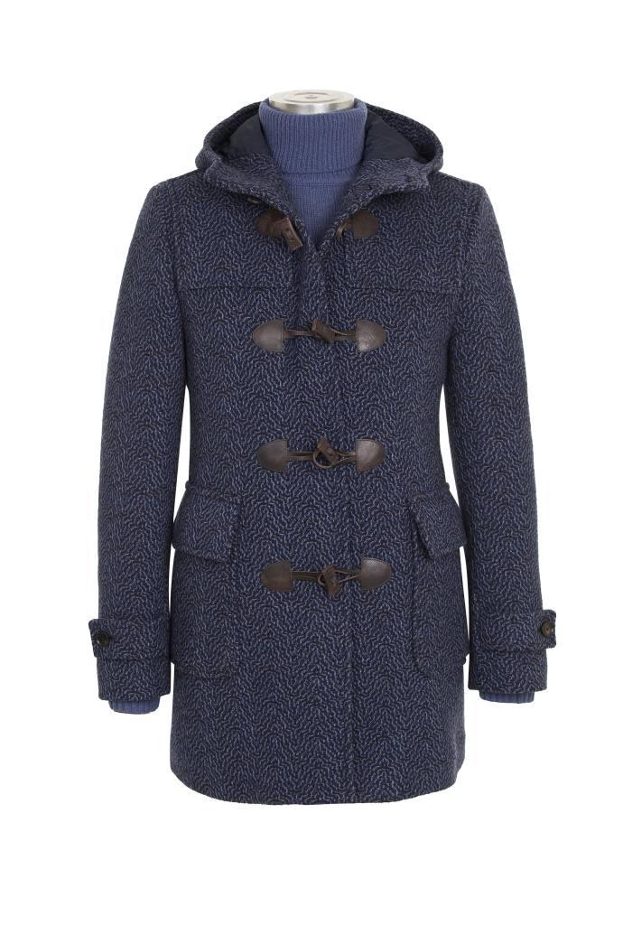 Paoloni Cappotto Montgomery in lana con lavorazione jacquard