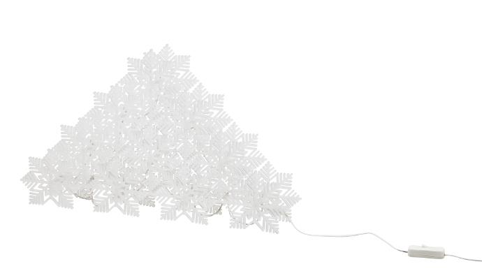 Stråla Decorazione da tavolo fiocchi di neve Ikea