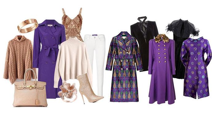 come abbinare il cappotto viola ultra violet