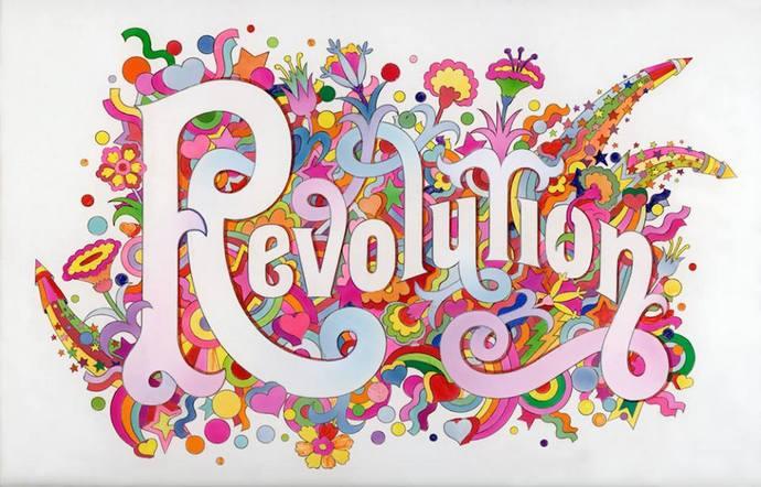 locandina della mostra Revolution a Milano