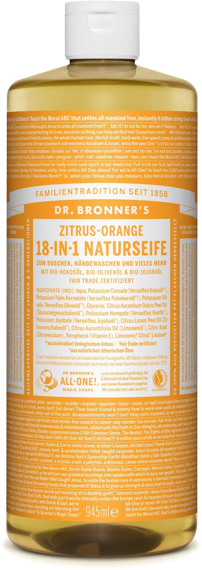 Sapone liquido 18in1 agli agrumi di Dr. Bronner's