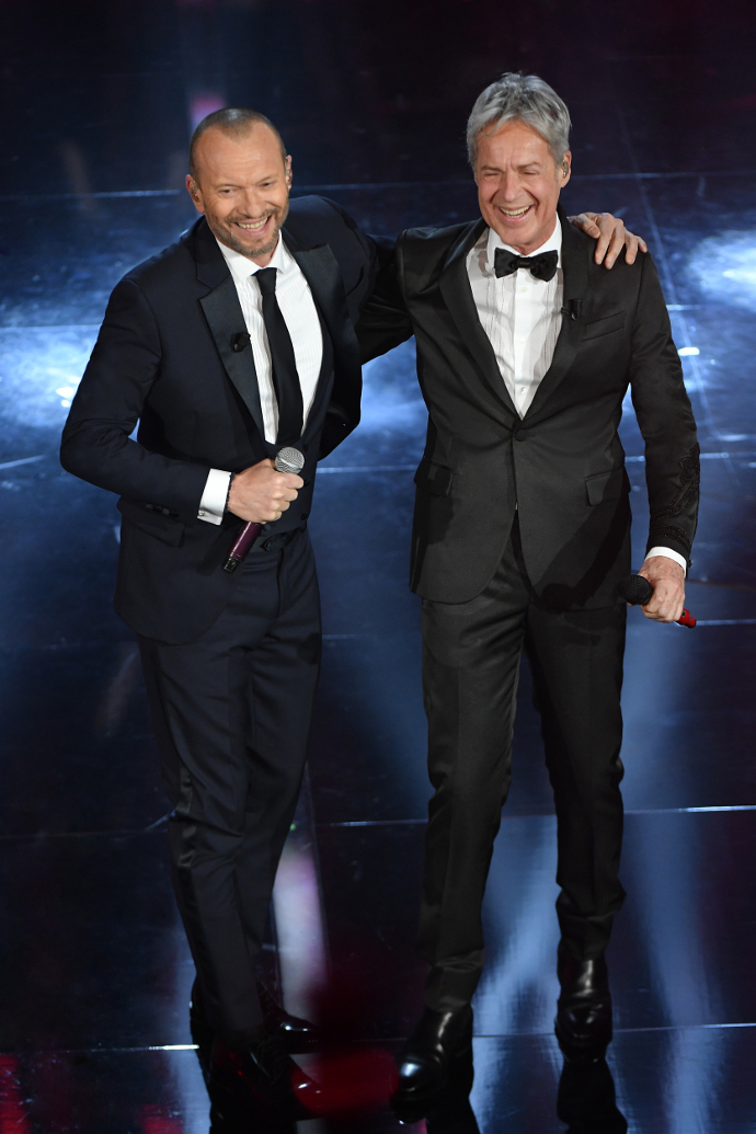 Claudio Baglioni e Biagio Antonacci Sanremo 2018 seconda serata